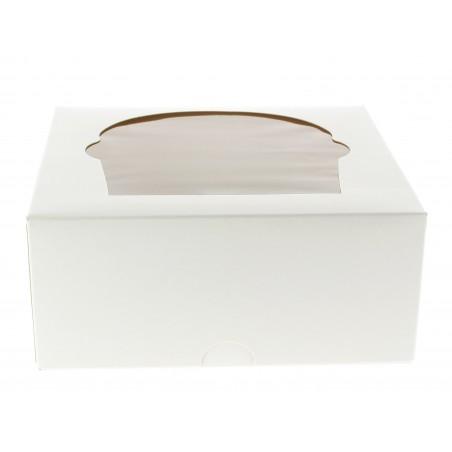 Cupcake Box für 4-Cupcake 17,3x16,5x7,5cm weiß (20 Einh.)