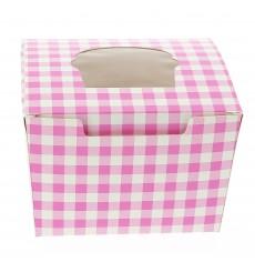 Cupcake Box für 1 Cupcake 11x10x7,5cm pink (200 Stück)