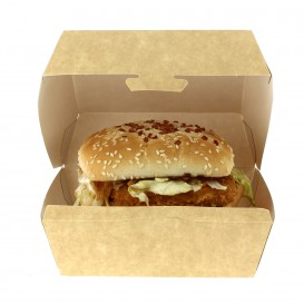 Hamburger box-Kraft-XXL 15,5x15,5x8cm (25 Einh.)