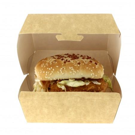 Hamburger Box Kraft XXL 14,5x14,5x8 cm (25 Stück)