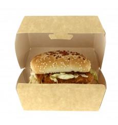 Hamburger box-Kraft 14x13x7cm (25 Einheiten)