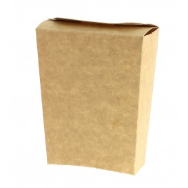 Geschlossene Pommes Box kraft (25 Einh.)