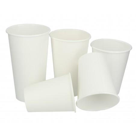 Karton Kaffeebecher to go weiß 12 Oz / 360ml Ø8,9cm (50 Einheiten)