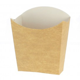 Kleiner Pommes Schütte Faltbox Kraft Verpackung 8,2x2,2x9cm (600 Einh.)