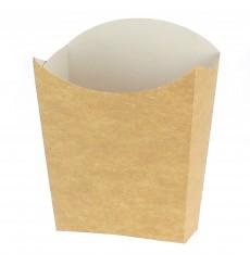 Medium Pommesschütte Faltbox Kraft (25 Stück)