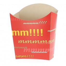 Kleiner Pommes Schütte Faltbox Verpackung 8,2x2,2x9cm (50 Einh.)