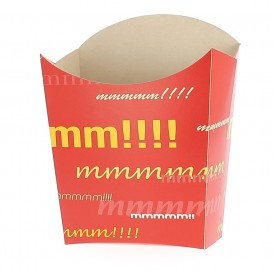 Kleiner Pommes Schütte Faltbox Verpackung 8,2x2,2x9cm (600 Einh.)