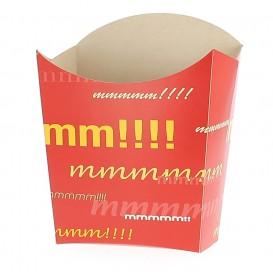 Medium Pommes Schütte Faltbox Verpackung 8,2x3,5x12,5cm (50 Einh.)