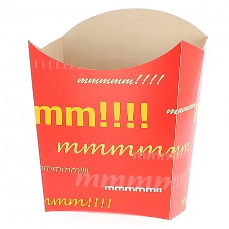 Große Pommesschütte Faltbox 8,2x3,3x14,9cm (25 Stück)