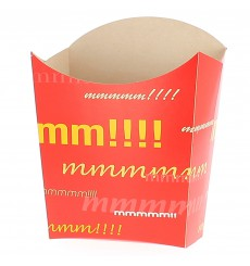 Große Pommesschütte Faltbox 8,2x3,3x14,9cm (400 Stück)