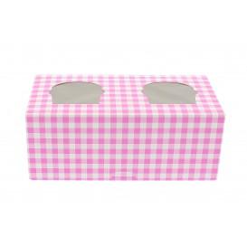 Cupcake Box für 2-Cupcake 19,5x10x7,5cm pink (160 Einh.)