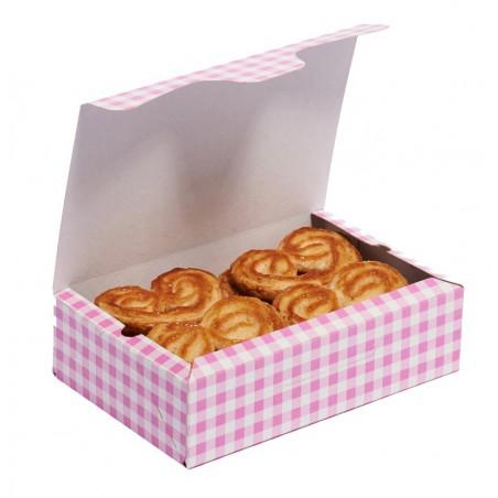 Gebäck-karton pink 17,5x11,5x4,7cm (5 Einh.)