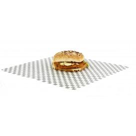 Wachspapier fettdicht für Burger Schwarz 31x31cm (1.000 Einh.)