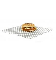 Wachspapier fettdicht für Burger Schwarz 31x31cm (1.000 Stück)