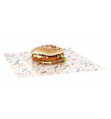 """Wachspapier fettdicht für Burger """"Hostel"""" 28x33cm (1.000 Stück)"""