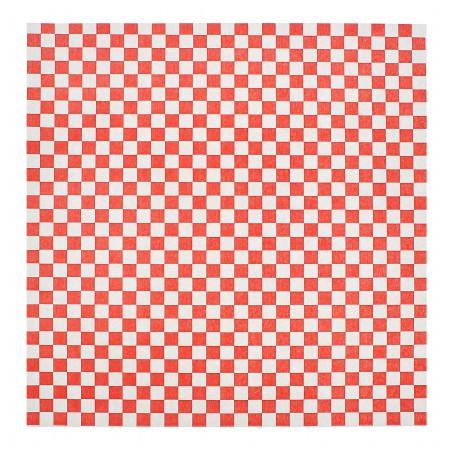 Wachspapier fettdicht für Burger Rot 31x31cm (4.000 Stück)
