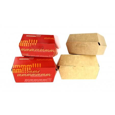 Hamburger box-Pappe 14x13x7cm (25 Einheiten)