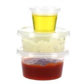 Dressingbecher für Saucen mit Deckel 33ml (100 Einh.)