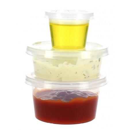 Dressingbecher für Saucen mit Deckel 120ml (100 Einh.)