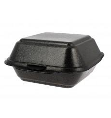Große Burger-Box Styropor Schwarz (125 Stück)