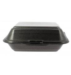 Verpackung Lunchbox Styropor Schwarz 185x155x70mm (125 Stück)