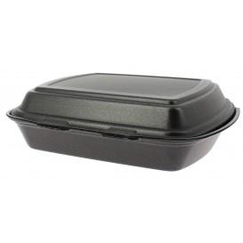 Verpackung Menübox FOAM 1C. Schwarz 240x210x70mm (50 Einh.)
