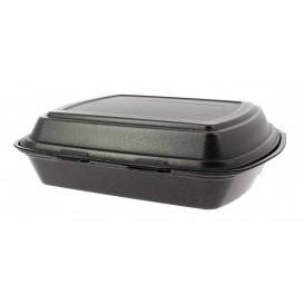 Verpackung Menübox FOAM Schwarz 3-geteilt (50 Einh.)