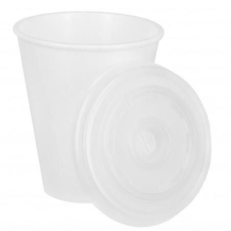 FOAM Becher weiß 200ml + Deckel 200ml (1.600 Einheiten)