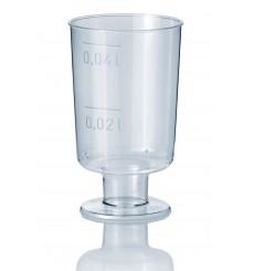 Plastikglas mit Fuß 40ml (20 Einheiten)