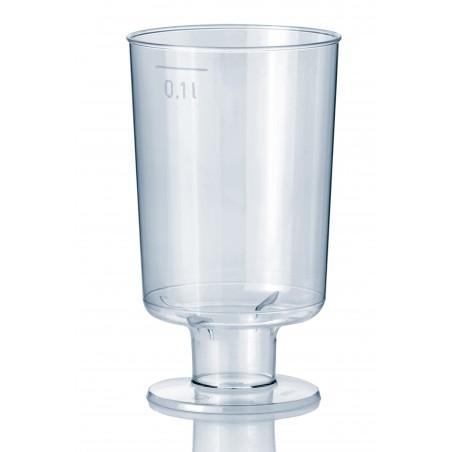 Plastik Gläser mit fuß 100ml (600 Einheiten)