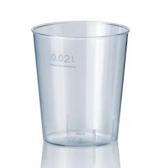 Transparent Plastikbecher 20ml (50 Einheiten)