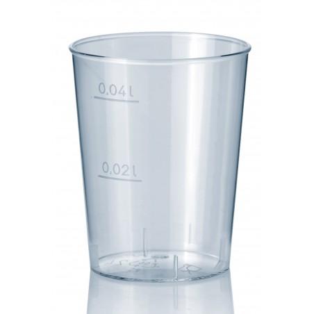 Transparente Plastikbecher 40ml (50 Einheiten)