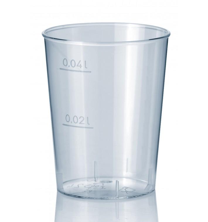 Schnapsglas aus Hartplastik Transparent 40ml