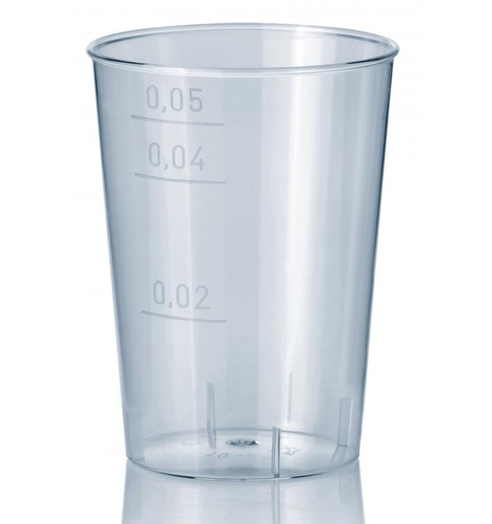 Transparente Plastikbecher 50ml (40 Einheiten)