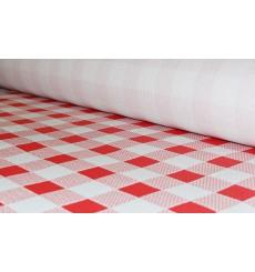 Papiertischdecke Rolle rot kariert 1x100m 40g (1 Stück)