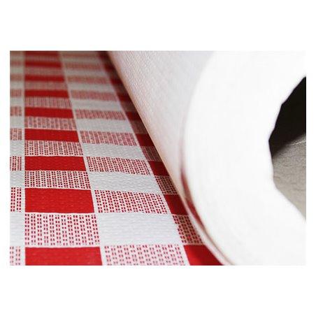 Rolle Papiertischdecke Kariert rot 1x100 Meterware 40g (1 Einh.)