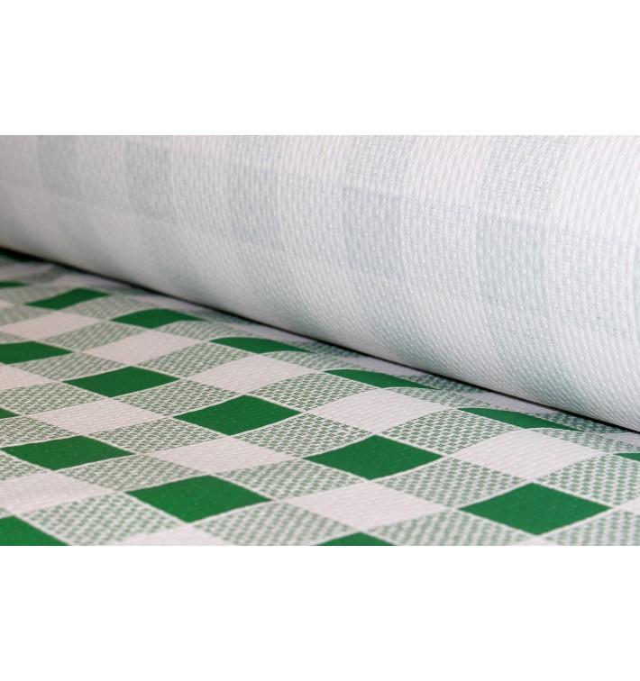 Papiertischdecke Rolle grün kariert 1x100m 40g (1 Stück)