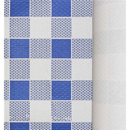 Rolle Papiertischdecke Kariert blau 1x100 Meterware 40g (1 Einh.)