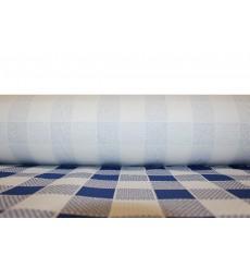 Papiertischdecke Rolle blau kariert 1x100m 40g (1 Stück)