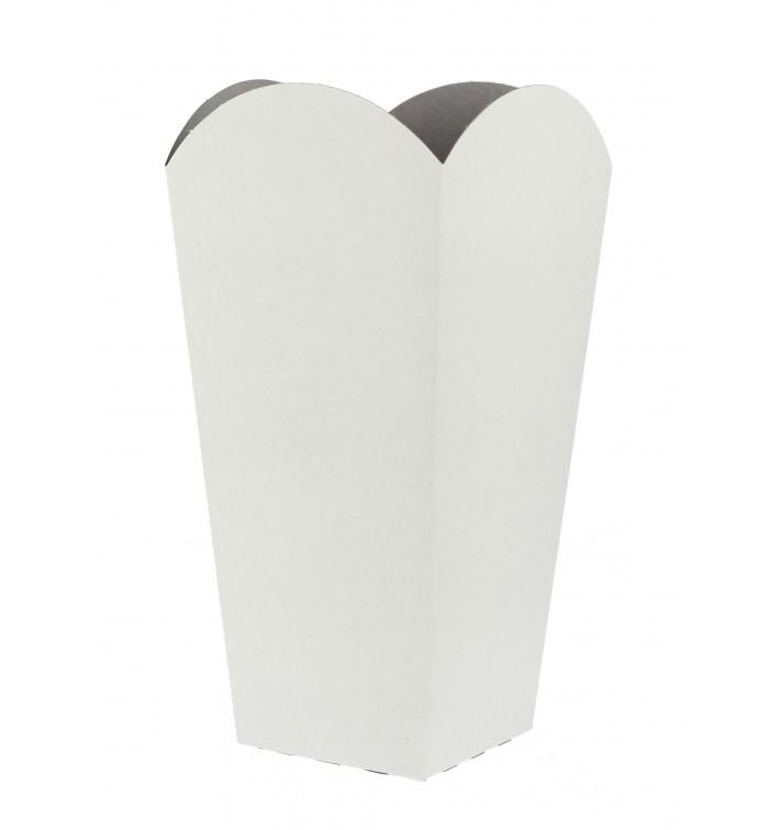 Kleine Popcorn Box weiß 45gr. 6,5x8,5x15cm (25 Stück)