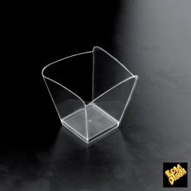 Plastikschüssel Verkostung Onda Transparent 57x57x58 mm (500 Einh.)