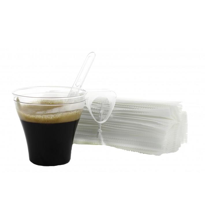 Transp. Rührstäbchen Kaffee 105mm Einzeln verpackt (50 Stück)