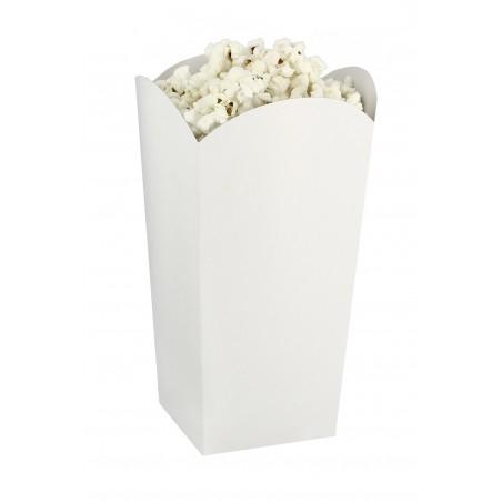 Kleiner Popcorn box weiß 45gr. 6,5x8,5x15cm (25 Einh.)