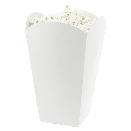 Medium Popcorn box weiß 90gr. 7,8x10,5x18cm (350 Einh.)