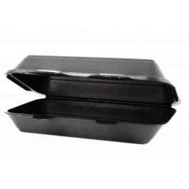 Verpackung LunchBox Styropor Schwarz 240x155x70mm (500 Stück)