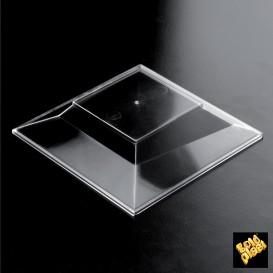 Deckel Plastikschüssel Verkostung Pagoda Transp. 128x128 mm (10 Einh.)