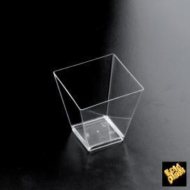 Plastikbecher Verkostung RomboTransparent 95 ml (25 Einh.)