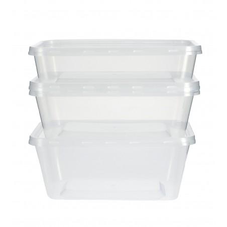 Plastikdose rechteckig PP 500ml (50 Einh.)