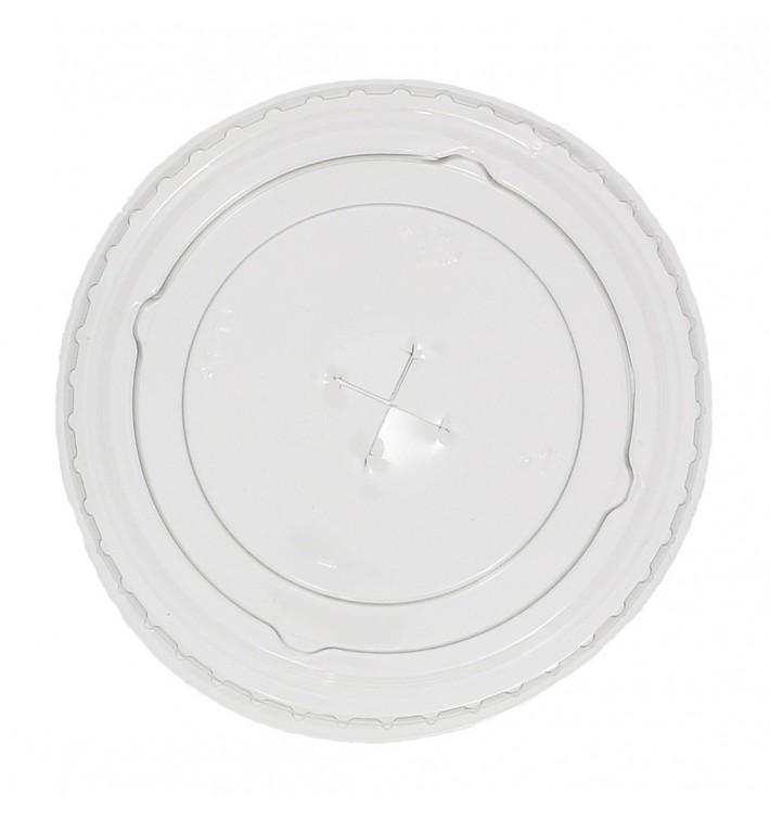 Deckel mit Kreuz Flach für Plastikbecher PP 300ml Ø7,4cm (2.500 Einh.)