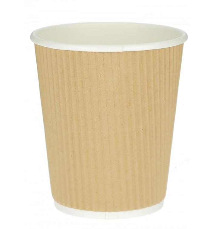 Kaffeebecher aus Wellpappe braun 12 Oz/360ml Ø8,7cm (1.000 Stück)